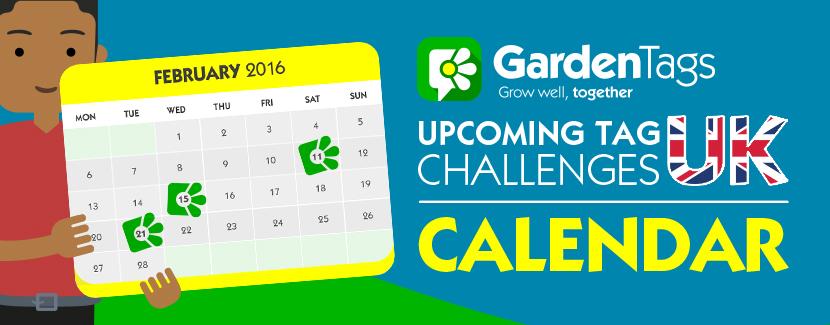 GardenTags UK Calendar January