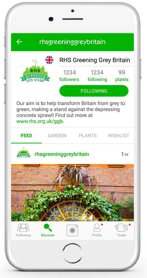 RHS GardenTags Profile