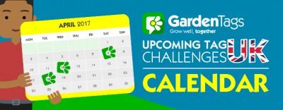 UK Calendar – April Tag Challenges
