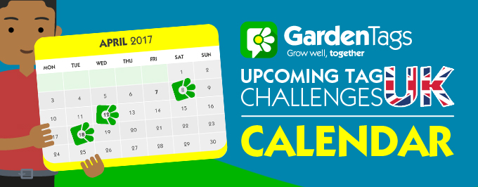 UK Calendar – April Tag Challenges