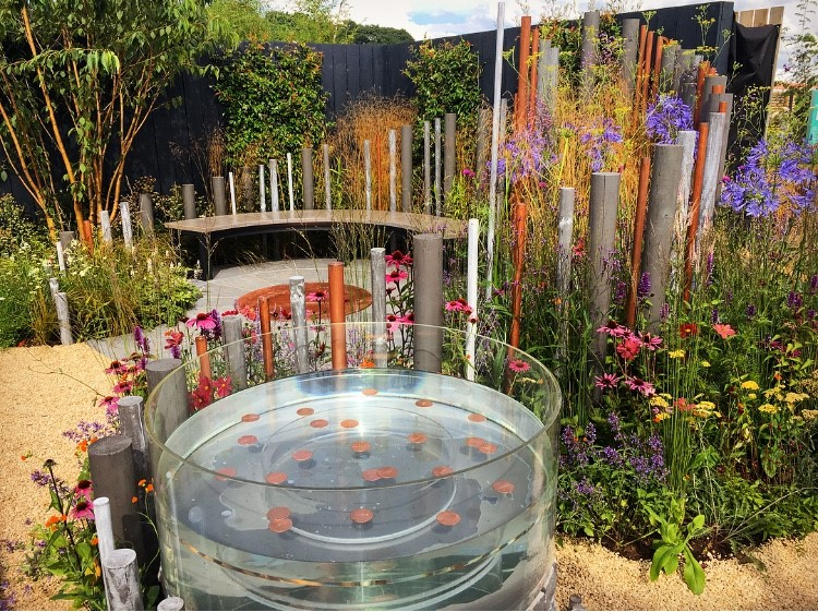 Lara Behr for Macmillan legacy garden RHS Tatton Flower Show